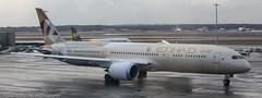 Etihad 787 Dreamliner at FRA