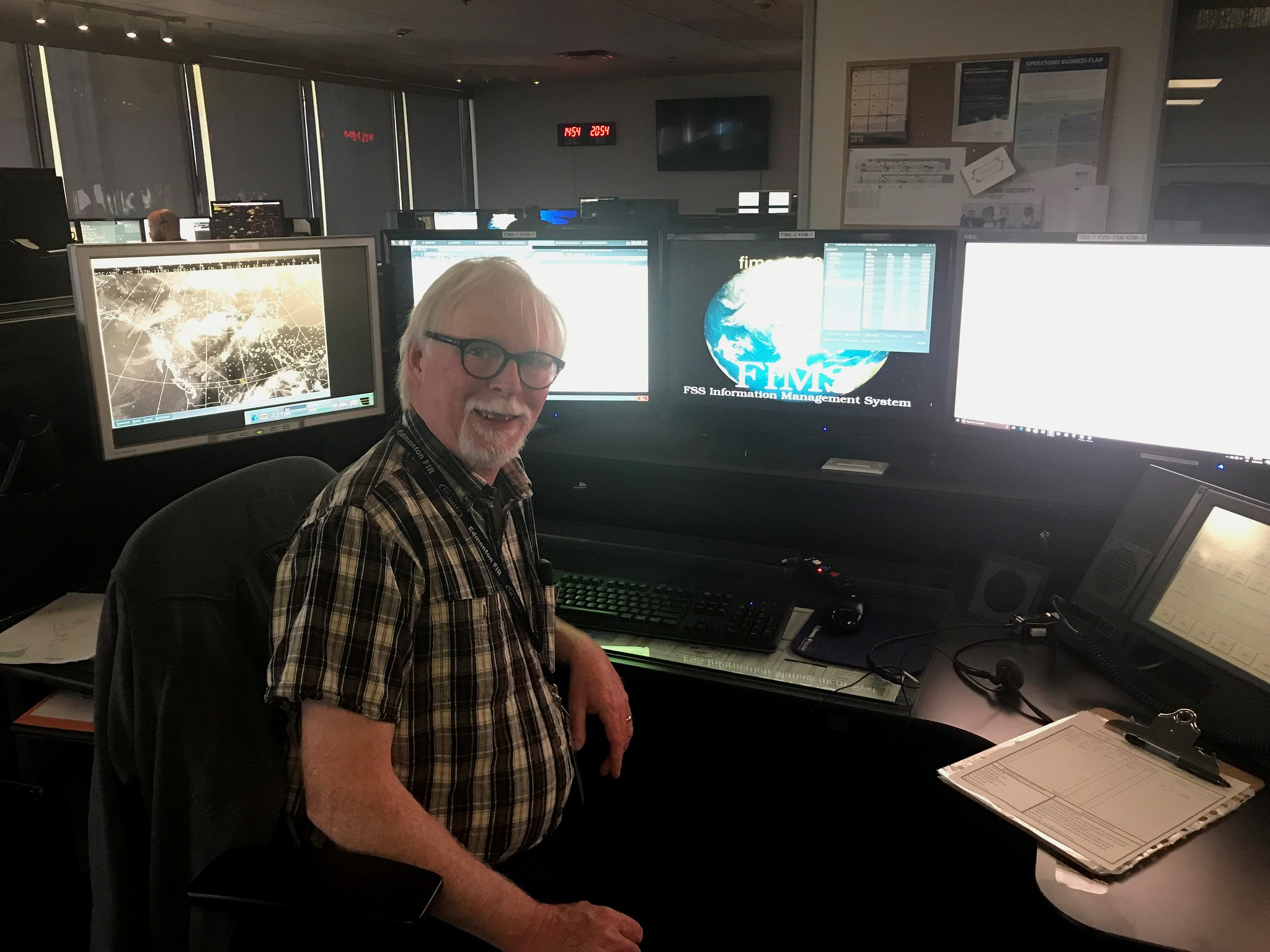 I first met Dave Carpenter in Dawson Creek, British Columbia in the early 1990's. The folks at the Edmonton Flight information Centre brief pilots regarding flight information over an immense expanse of Canadian airspace. (USF&WS photo by Jim Bredy)