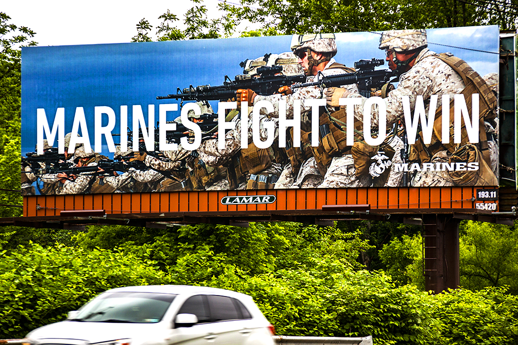 MARINES FIGHT TO WIN--Pennsauken