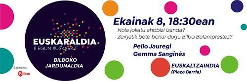 Ekainaren 8an Pello Jauregi eta Gemma Sanginés Euskaltzaindian