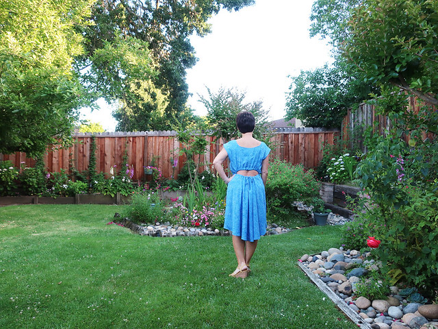 blue rayon dress back view6