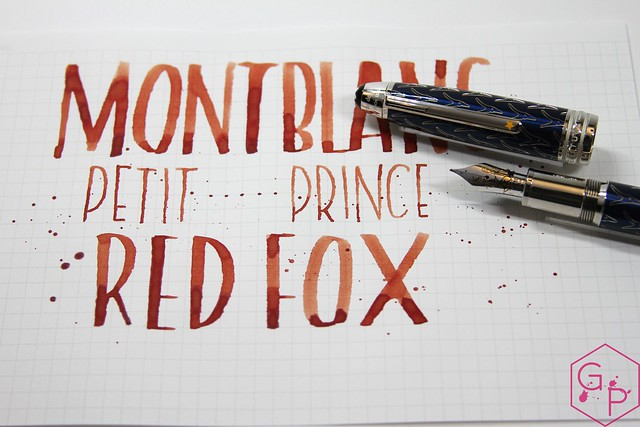 Montblanc Le Petit Prince Red Fox Ink Review @AppelboomLaren @Montblanc_World 17