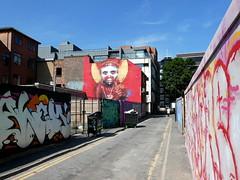 Street art in Manchester's Northern Quarter (artist: Dale Grimshaw)