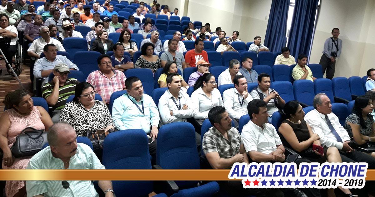 Alcaldía presentó el plan de movilidad sustentable para Chone 2017-2027