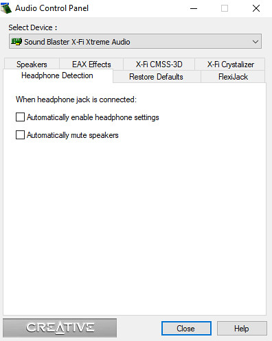How to disable soundcard mute when headphones are plugged in