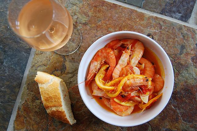 Prawns in Orange, Tomato and Cardamom #prawns #shrimp #tomato #orange #cardamom #seafood