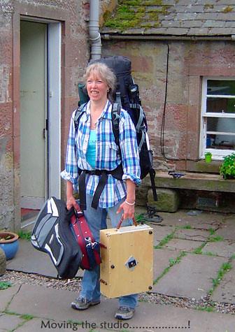 Travelling in Scotland. Artist Jan Clizer
