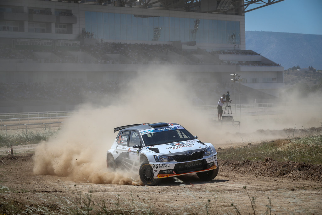 09 PTASZEK Hubert (pol), SZCZEPANIAK Maciej (pol), Skoda Fabia R5, action during the European Rally Championship 2018 - Acropolis Rally Of Grece, June 1 to 3 at Lamia - Photo Alexandre Guillaumot / DPPI