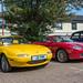 1991 Mazda Eunos Roadster - J6 PWM + 2005 MG TF - KR05 XWL - Classic Stony 2018