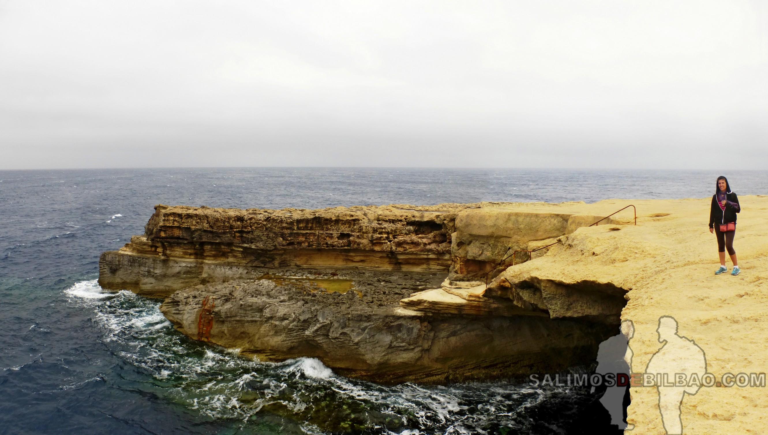 0418. Saioa, Pano, Acantilados de las Salinas, Gozo