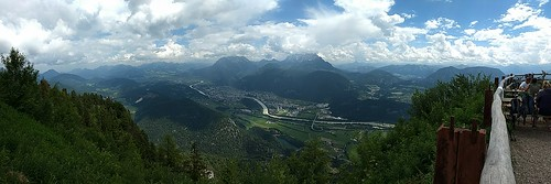 View of the Tyrol Alps from Pendling Mountain in Kufstein, Austria