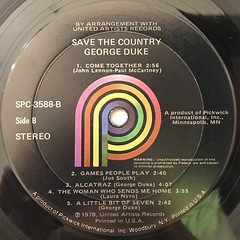GEORGE DUKE:SAVE THE COUNTRY(LABEL SIDE-B)