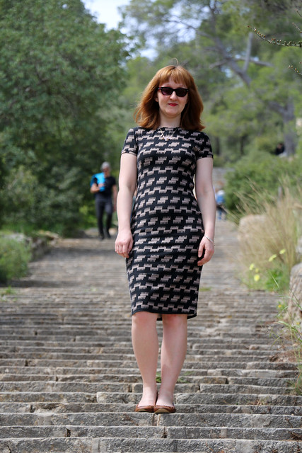 Capital Chic Patterns Sangria Dress