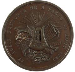 Pierre Jean Beranger Medal reverse