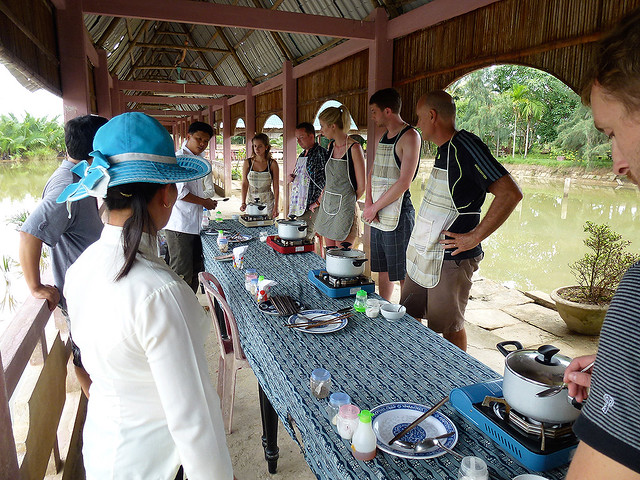 Cooking lessons are a popular activity for tourists in any Vietmanese destination