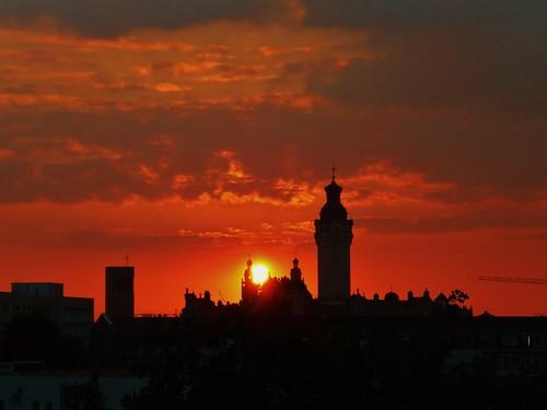 Sonnenuntergang Leipzig