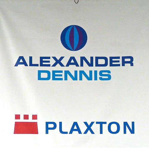 Alexander Dennis / Plaxton banner on Dennis Basford's railsroadsrunways.blogspot.co.uk'