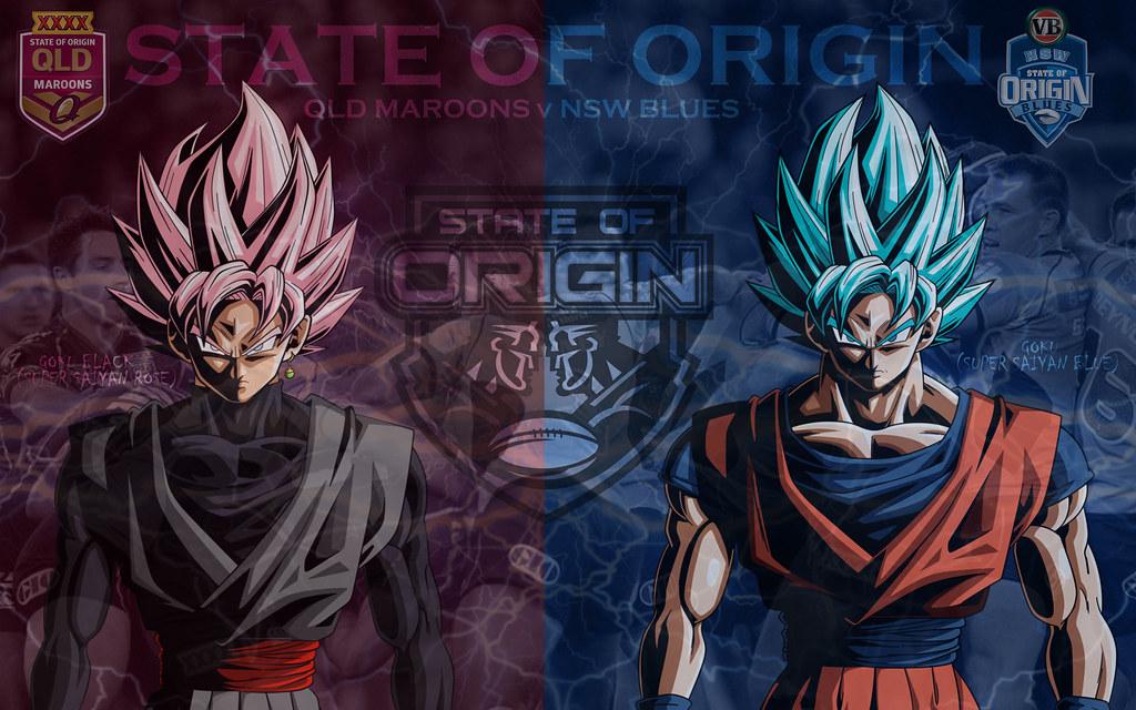 State Of Origin Goku Black Vs Goku Wallpaper By Sunnyboi Flickr