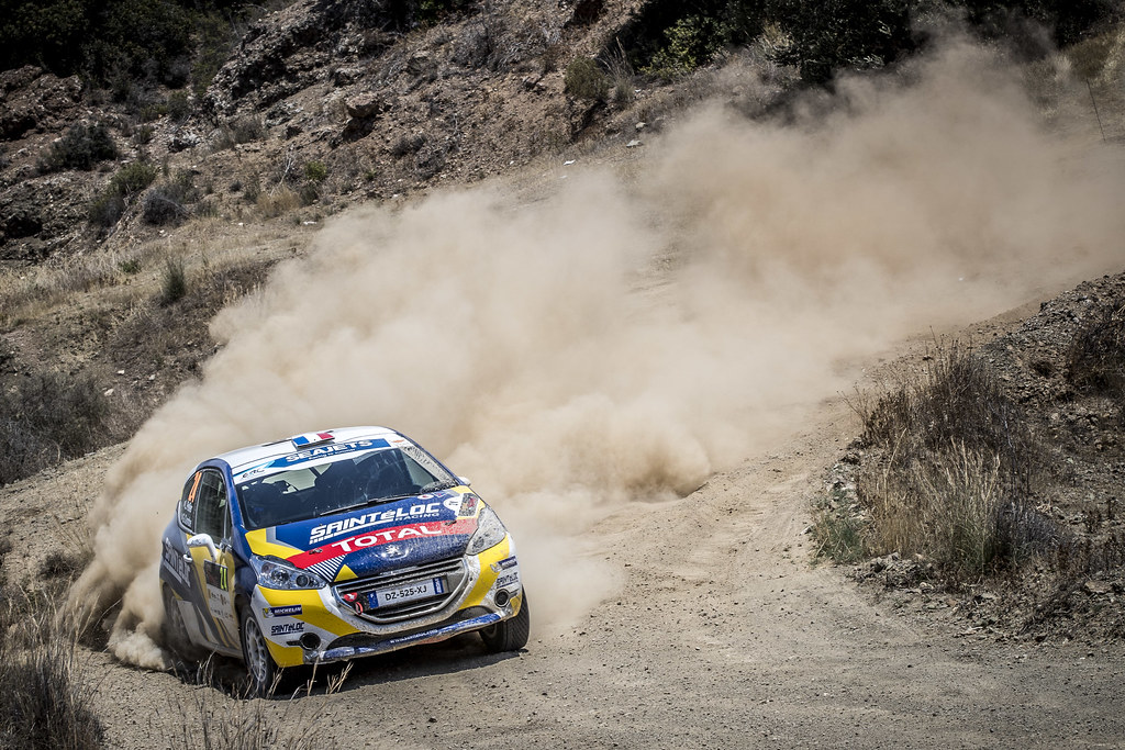 24 PELLIER Laurent (FRA), COMBE Geoffrey (FRA), SAINTELOC JUNIOR TEAM, PEUGEOT 208 Vti, action during the 2018 European Rally Championship ERC Cyprus Rally,  from june 15 to 17  at Larnaca, Cyprus - Photo Gregory Lenormand / DPPI