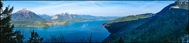Panorama des Thuner Sees, Fujifilm X-T20, XF18-55mmF2.8-4 R LM OIS