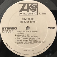 SHIRLEY SCOTT:SOMETHING(LABEL SIDE-A)