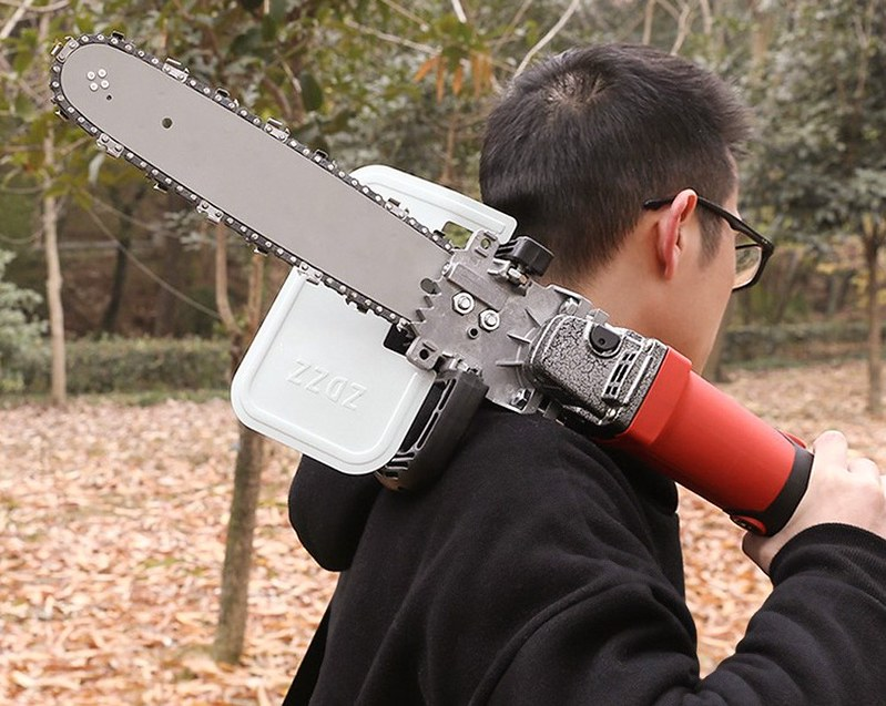 手作りDIYチェーンソー (15)