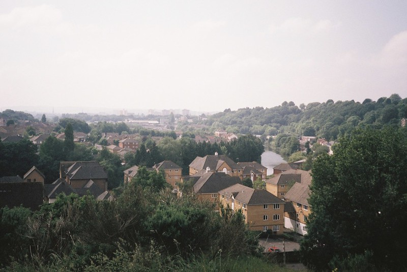The (hazy) view from Troopers Hill towards the city - including the Avon!