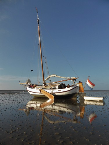 Low tide at the Boschplaat, Waddensea NL
