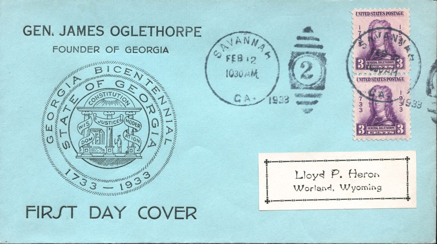 United States - Scott #726 (1933) - first day cover, unknown cachet