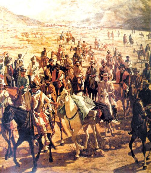 Conducción del cadáver de Juan Lavalle por la Quebrada