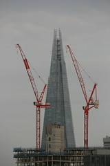 The Shard and cranes