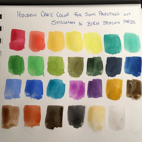 #Holbein watercolors pan set of 28 from #JetPens