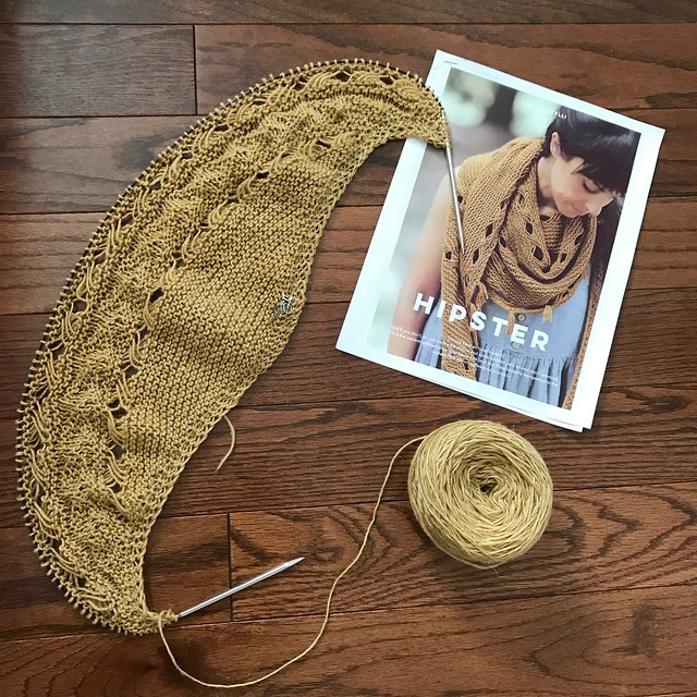 Sue2Knits WIP - Hipster by Joji Locatelli❤️ Once again I am using Manos Milo in their Savana colourway