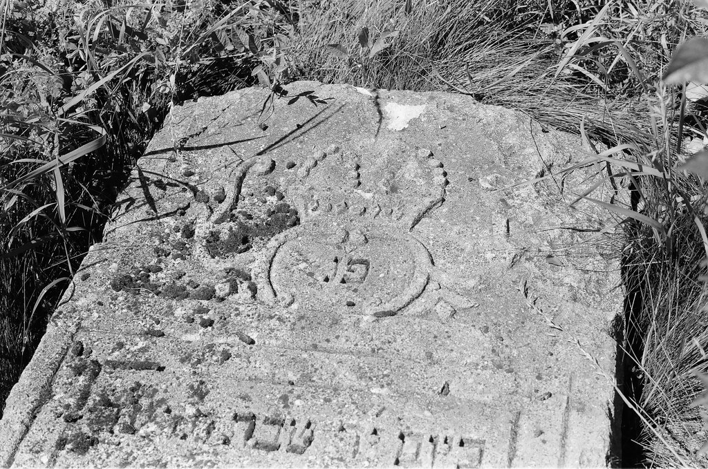 Headstone at old Jewish Cemetery in Rohatyn