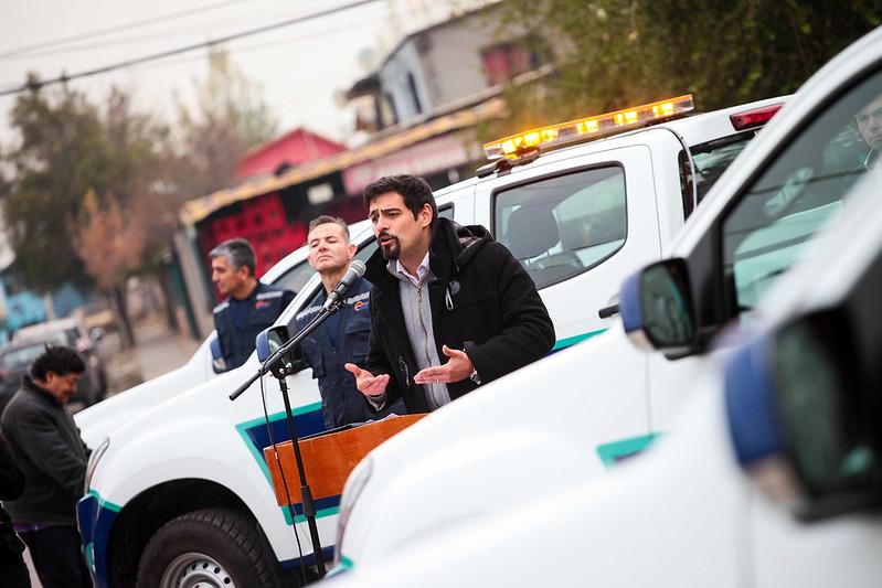 Lanzamiento de la nueva policía municipal de Cerro Navia