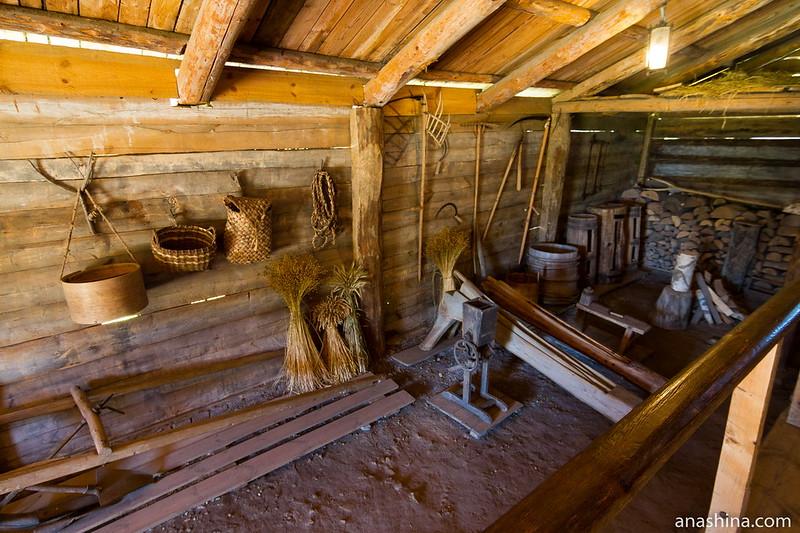 Хозяйственный двор, музей деревянного зодчества, Суздаль