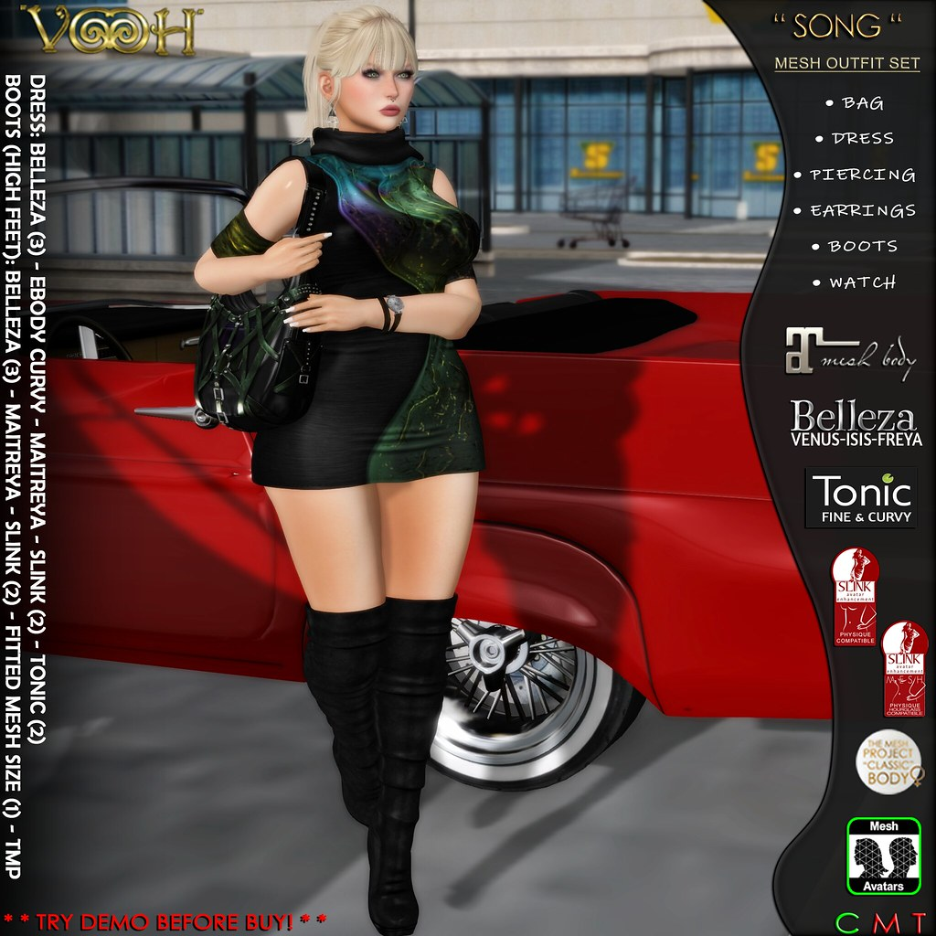 VOOH NEW RELEASE – SONG MESH OUTFIT SET