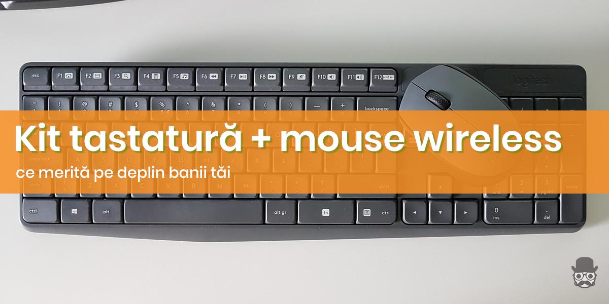 Kit mouse si tastatura wireless bun pana in 100 - 150 lei 142