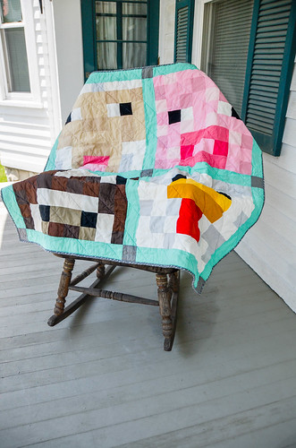 Minecraft Inspired Farm Animal Quilt