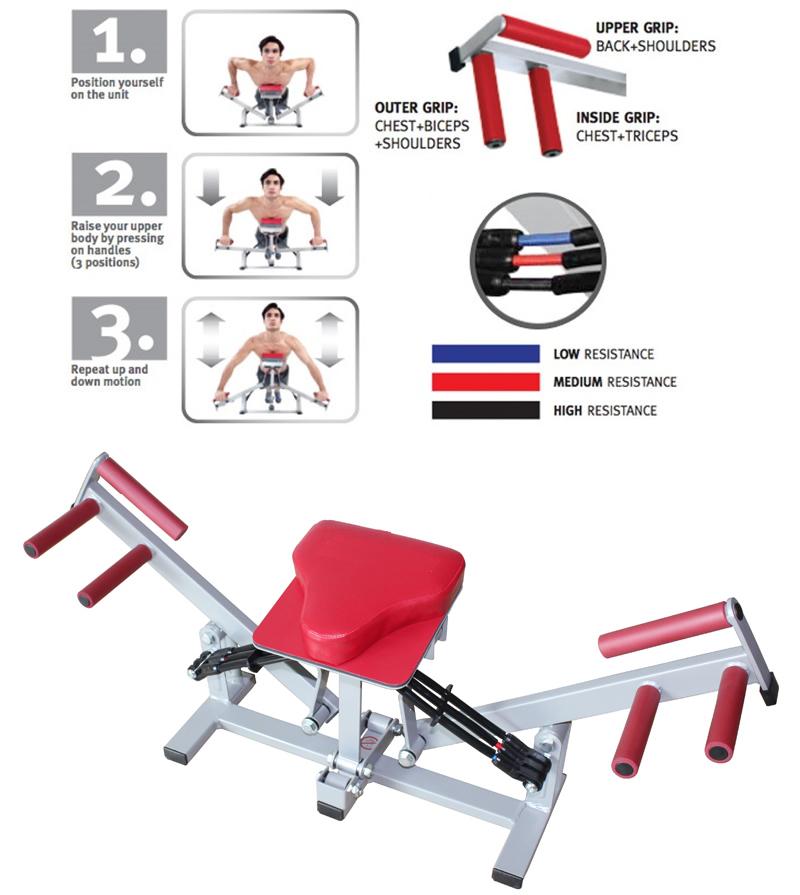 Beste AB Abdominal Push Up Pump Cardio Home Gym Fitness Equipment Pushup HU-47