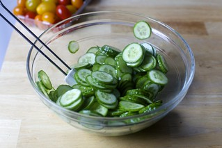 lightly marinated cucumbers