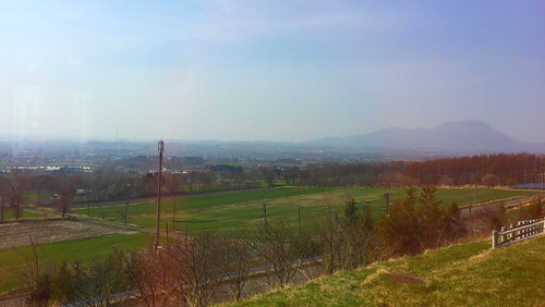 道央自動車道 有珠山SA(上り)からの眺望