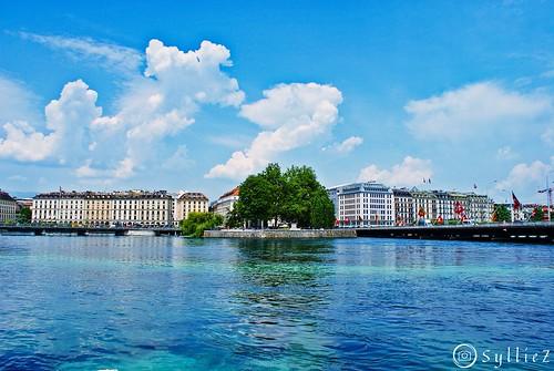 Rousseau Island in Geneva