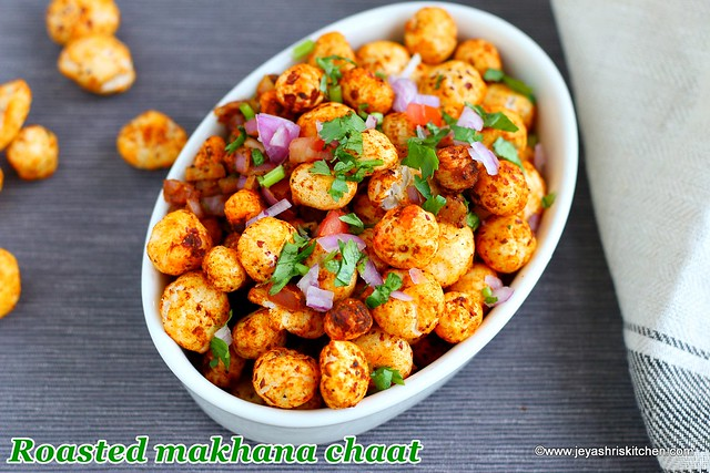 Phool makhana chaat