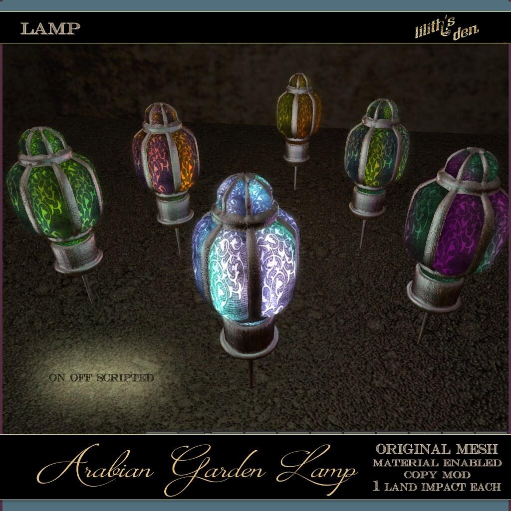 Lilith's Den – Arabian Garden Lamp