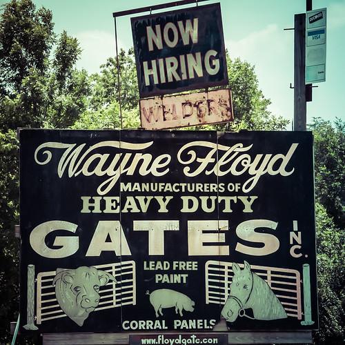 waynefloyd heavydutygates leadfreepaint manufacturing nowhiring signage signs