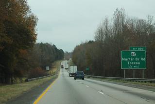 I-85 North GA - Exit 154 - GA63 Half Mile