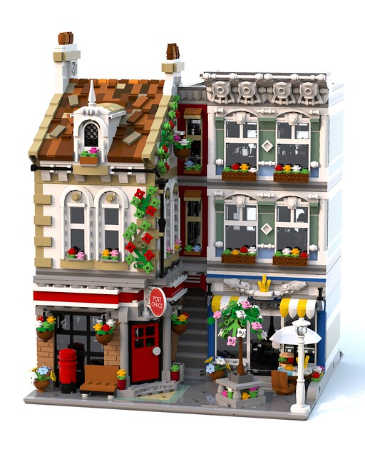 Moc Brick Square Post Office Lego Town Eurobricks Forums