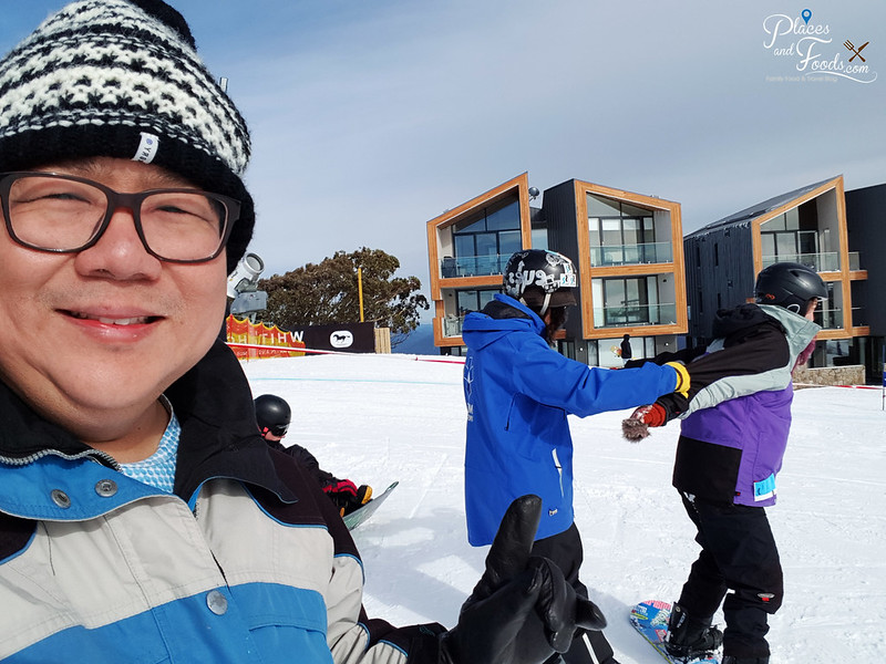 mount buller learning ski