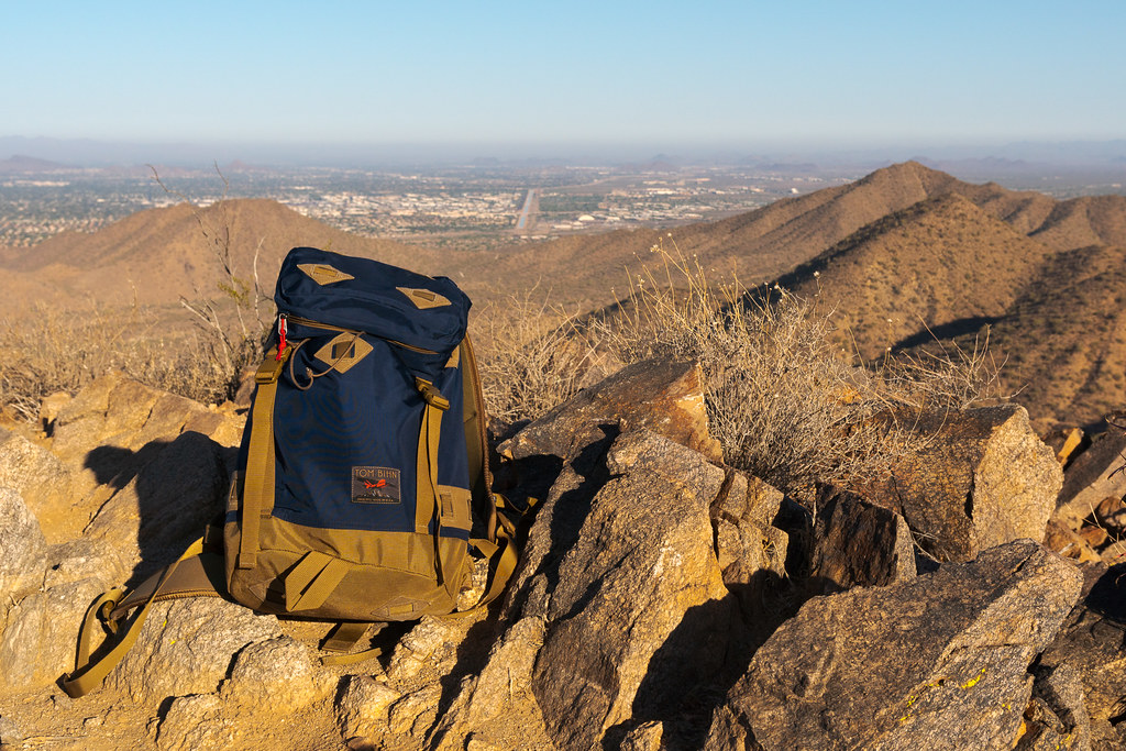 The Tom Bihn Guide's Pack at Sunrise Peak in the McDowell Sonoran Preserve